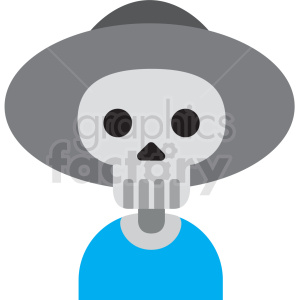 day of the dead skeleton clipart clipart. Royalty-free image # 411623