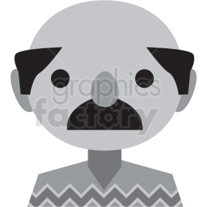 day of the dead mexican man vector icon clipart clipart. Royalty-free image # 411627