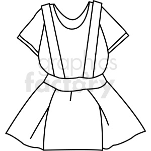 black white clothing dress icon vector clipart clipart. Royalty-free image # 411714