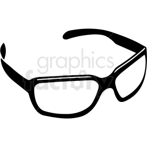 black and white sunglasses vector clipart clipart. Royalty-free image # 411761