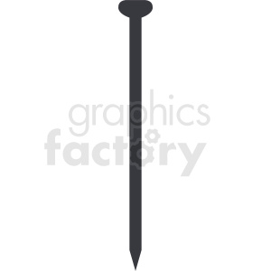 construction nail vector graphic clipart. Royalty-free image # 411917