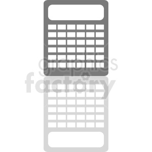 large calculator vector clipart clipart. Commercial use image # 411957