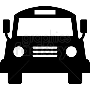 front of bus vector clipart clipart. Royalty-free image # 412029