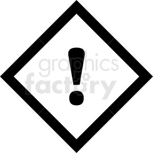 warning sign outline vector clipart. Commercial use image # 412066