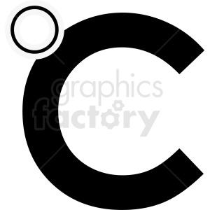 black celsius symbol vector clipart. Commercial use image # 412078