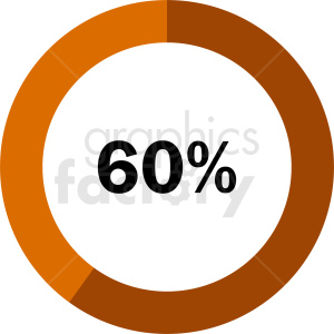 60 percent pie chart vector clipart. Commercial use image # 412097