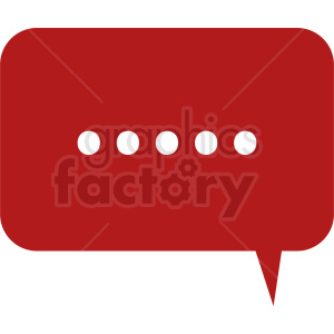 red chat icon vector clipart. Royalty-free image # 412108