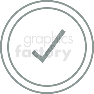 check mark outline vector clipart clipart. Royalty-free image # 412118