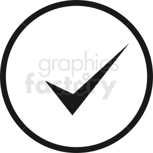 checkmark vector icon clipart. Royalty-free image # 412121
