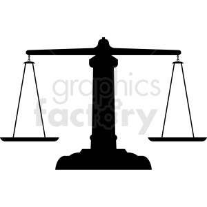 scales of justice vector clipart. Commercial use image # 412128