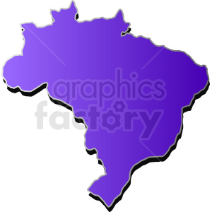 Brazil filled with gradient purple vector clipart. Royalty-free image # 412176