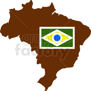 Brazil country and flag clipart. Royalty-free image # 412201