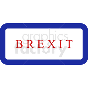 Brexit button vector clipart. Commercial use image # 412206