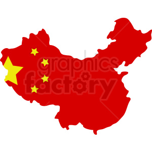 China flag vector design clipart. Royalty-free image # 412211