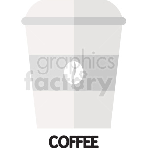 coffee bean travel cup vector clipart. Royalty-free image # 412231