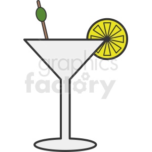cartoon martini clipart clipart. Commercial use image # 412238