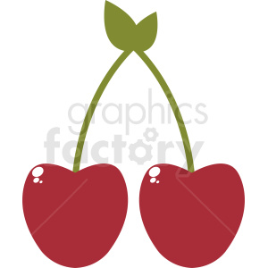 cherries vector design clipart. Royalty-free image # 412275