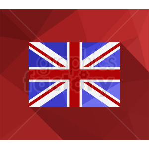 Great Britain flag on red background clipart. Commercial use image # 412315
