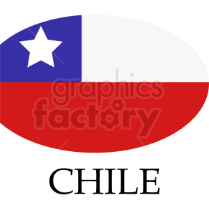 clipart - circular Chile flag icon.