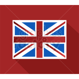 Great Britain flag icon clipart. Commercial use image # 412363