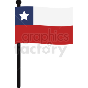 Chile flag clipart clipart. Commercial use image # 412364