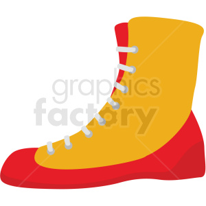 red and yellow boxing shoe vector clipart clipart. Commercial use image # 412525