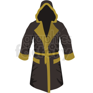 black and yellow boxing robe vector clipart clipart. Commercial use image # 412532