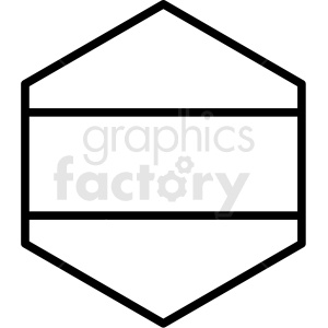 hexagon blank sign design vector clipart clipart. Royalty-free image # 412571
