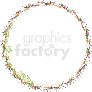 floral border frame vector clipart clipart. Commercial use image # 412622