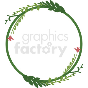 circle wreath vector clipart clipart. Royalty-free image # 412785
