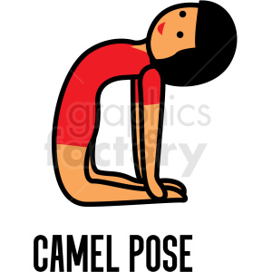girl doing yoga camel pose vector clipart clipart. Commercial use image # 412804