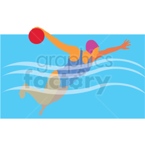 olympic female water polo vector clipart