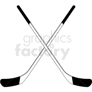 crossed hockey sticks clipart design clipart. Royalty-free image # 412939