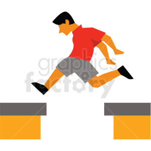 parkour vector clipart icon