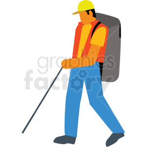 hiking vector clipart icon