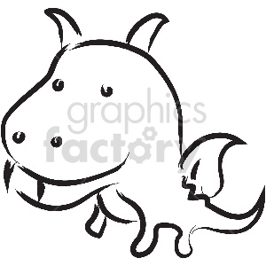 black and white tattoo little dragon vector clipart clipart. Royalty-free image # 413363