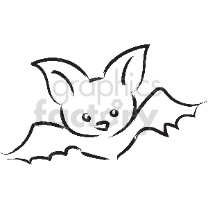 black and white tattoo bat vector clipart clipart. Royalty-free image # 413373