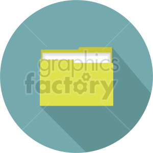 file folder vector clipart 3 clipart. Commercial use image # 413490