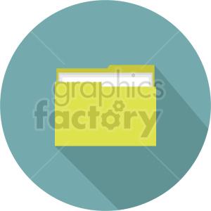 file folder vector clipart 3