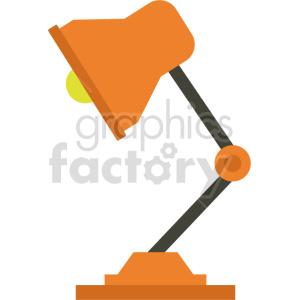 cartoon desk lamp vector clipart