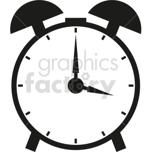 alarm clock vector graphic clipart 4 clipart. Commercial use image # 413579