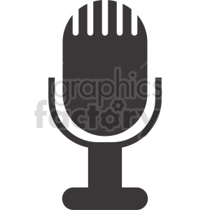 microphone vector icon graphic clipart 13 clipart. Royalty-free image # 413588