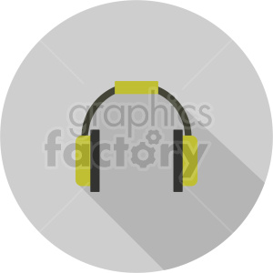 headphones vector icon graphic clipart 7 clipart. Commercial use image # 413589