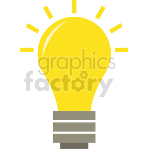 lightbulb vector icon graphic clipart 2 clipart. Commercial use image # 413595