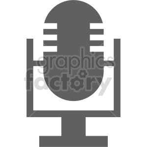 microphone vector icon graphic clipart 15 clipart. Royalty-free image # 413614