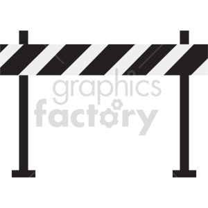 barricade roadblock vector graphic clipart 3 clipart. Commercial use image # 413650