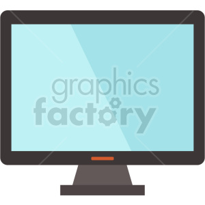 computer monitor vector graphic clipart 13 clipart. Commercial use image # 413729