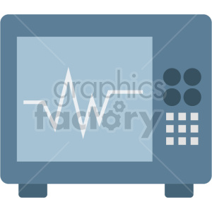 ekg machine vector icon graphic clipart no background clipart. Commercial use image # 413770