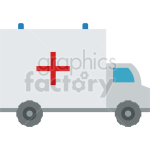 medical ambulance vector icon graphic clipart no background clipart. Commercial use image # 413780