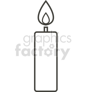 candle vector icon graphic clipart 5